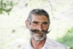 Elederly man with moustaches Royalty Free Stock Photos