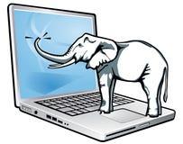 elefantåterkallelsetotal vektor illustrationer