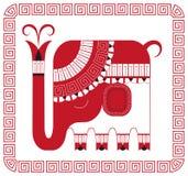 elefant印地安人 库存照片