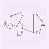 elefant的Origami 向量例证