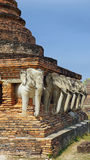 Elefant στο ναό Στοκ εικόνες με δικαίωμα ελεύθερης χρήσης