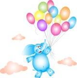 Elefant auf Ballonen Lizenzfreies Stockfoto