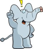 Elefant-Ausruf stock abbildung