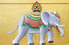 Elefant beim Buddha Dordenma, Thimphu, Bhutan Stockfoto