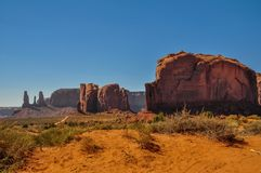 Elefant Butte, Felsformation, im ikonenhaften Monument-Tal, Arizona Stockfoto