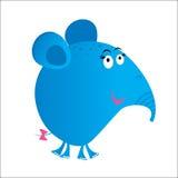Elefant cartoon blue. Funny cartoon elephant mascot vector Vector Illustration