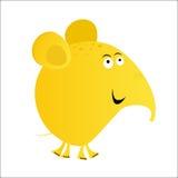 Elefant cartoon yellow. Funny cartoon elephant mascot vector Vector Illustration