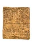 Elefant in der Waldskulptur Lizenzfreie Stockfotos
