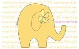 Elefant - es ist eine Mädchen-Abbildung - Vektor Imag Stockfoto