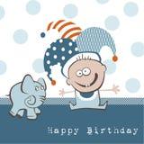 Elefant för lycklig födelsedag vektor illustrationer
