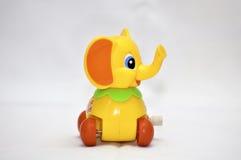 Elefant för urverkleksak Arkivfoto