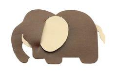 Elefant gebildet vom Leder Lizenzfreie Stockfotos