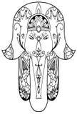 Elefant hamsa Amulett Lizenzfreie Stockfotos