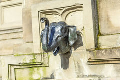 Elefant head at the Johannes Gutenberg monument on the southern Royalty Free Stock Image