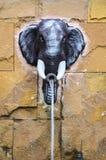 Elefant head skulptur Royaltyfri Fotografi