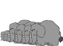 Elefant-Herde stock abbildung