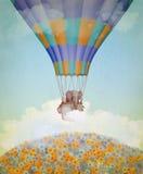 Elefant i ballongen. Royaltyfri Bild