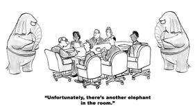 Elefant i rummet Arkivbilder