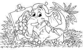 Elefant - Künstler Lizenzfreies Stockfoto