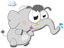 Elefant-Karikatur Stockfotografie