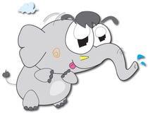 Elefant-Karikatur stock abbildung