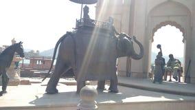 Elefant-Kultur und ihr wichtiges in der indischen Geschichte stockfoto