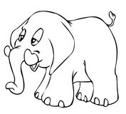 elefant little stock illustrationer