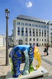 Elefant Luxembourg stad royaltyfri foto