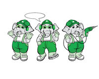 Elefant-Mechaniker Mascot Stockfotos