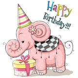 Elefant med gåvan Royaltyfri Bild