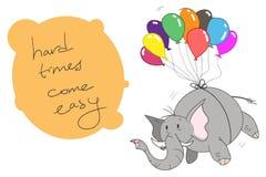 Elefant mit Ballonen Lizenzfreie Stockbilder