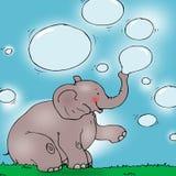 Elefant mit Luftblasen. Lizenzfreies Stockfoto
