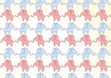 Elefant-Muster Stockbild