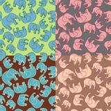 Elefant-Muster stock abbildung