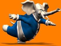 Elefant nell'equilibrio illustrazione vettoriale