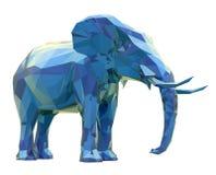 Elefant, niedriges Poly Lizenzfreie Stockbilder