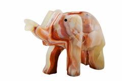Elefant som är handgjord i onyxsten Arkivfoto
