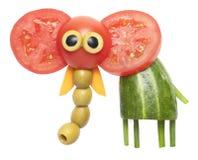 Elefant som göras av grönsaker Arkivbilder
