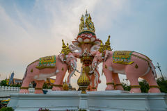 Elefant-Steinstatue Stockfoto