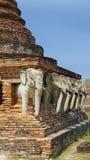 Elefant sur le temple Images libres de droits
