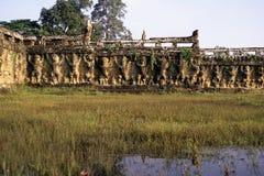 Elefant-Terrasse Angkor Wat Ruinen, Kambodscha Stockbild