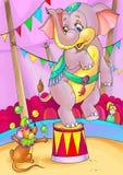 Elefant und Maus lizenzfreie abbildung