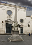 Elefant und Obelisk im Marktplatz della Minerva, Rom Lizenzfreie Stockfotos