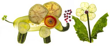 elefant from vegetable stock photography