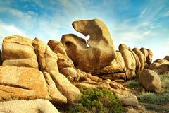 Elefant vom Felsen Stockfotos