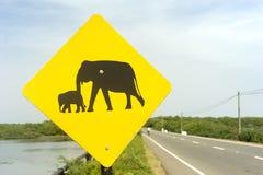 Elefant-Zeichen Lizenzfreie Stockbilder