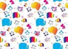 Elefantbakgrund Arkivfoto