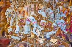 Elefantdockor i det Mandalay lagret, Myanmar royaltyfria foton