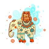 Elefante étnico ilustración del vector