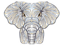 Elefante étnico stock de ilustración